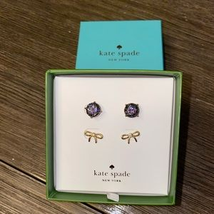 Kate spade 2 paid earrings with box